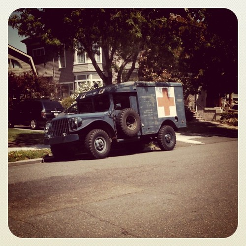 Army ambulance, Alameda