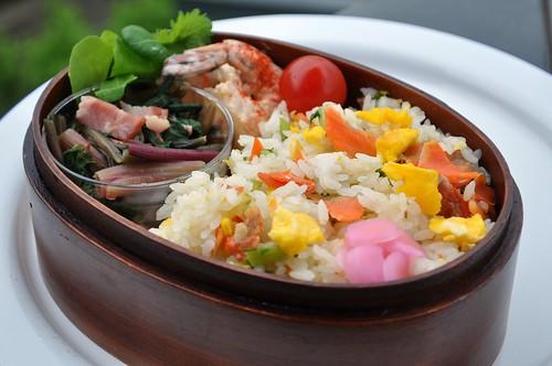 Salmon Chahan Bento