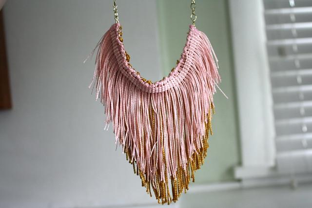 DIY Chevron Fringe Necklace