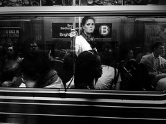 """The Melancholic Eyes of the Girl on the B Train"" (Sion Fullana) Tags: nyc people urban blackandwhite bw newyork blancoynegro beauty subway emotion citylife streetshots streetphotography btrain melancholy allrightsreserved decisivemoment beautifulgirl newyorkers newyorklife iphone newyorksubway urbanshots urbannewyork decisivemoments iphone4 iphonephotography iphoneshots iphoneography iphoneographer sionfullana editedanduploadedoniphone iphonestreetphotography throughthelensofaniphone mobilephotogroup"