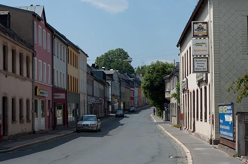 Blick in die Stadt Helmbrechts