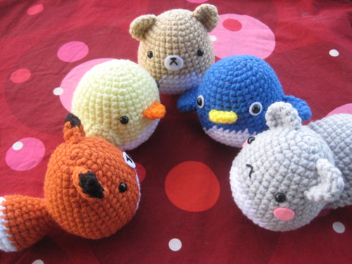 Frida Kahlo Amigurumi Free Pattern : Amigurumi Critter Pattern Fox, Squirrel, Penguin, Chick ...