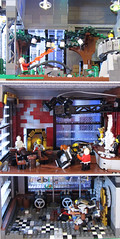 Three Level Rooms (Imagine) Tags: tower architecture airplane toys lego billboard artdeco rapture littlesister bigdaddy moc watercity bioshock lifelites imaginerigney brickworld2011