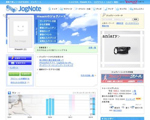 Hisashiのジョグノート - JogNote [ジョギング・マラソン SNS]