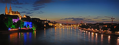 Basilea by Night (stega60) Tags: panorama night lights schweiz switzerland suisse nacht basel citylights rhein nuit mnster lichter basle basilea rheinbrcke ble swizzera mnsterbasel stega60