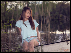 """""""Lake mermaid"""" (yvind Bjerkholt (Thanks for 26,1 million+ views)) Tags: portrait girl beautiful face norway female canon asian eos 50mm norge dream thoughts thai dreamy hazy portrett arendal 600d cs6"""