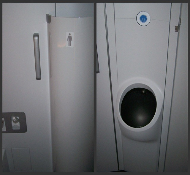 Lufthansa A380 First Class Urinals