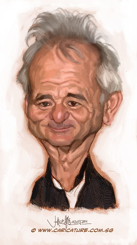 digital caricature of Bill Murray - 1
