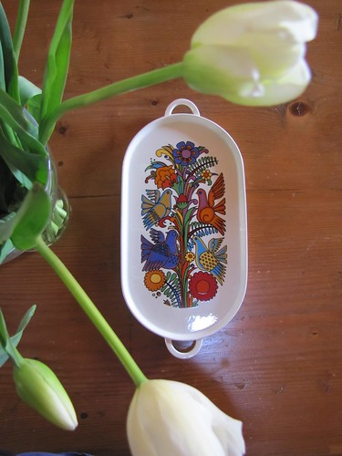 """Vintage porcelain tray from Villeroy-Boch """"Acapulco"""""""