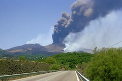Road to eruption (etnaboris) Tags: road 2001 italy mountain volcano strada italia sicily etna montagna sicilia vulcano lavaflow colatalavica ashcolumn colonnadicenere flankeruption eruzionedifianco