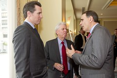 Gavin Newsom and David Axelrod
