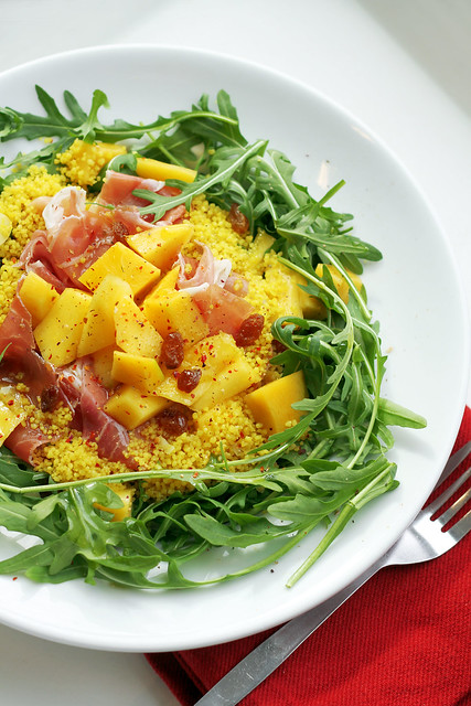 174 Mango, Parma Ham and Rocket Coucous