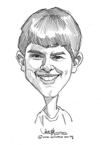 caricature in pencil - 6