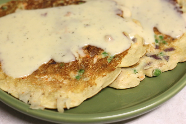 Chicken Pot Pancakes, plate