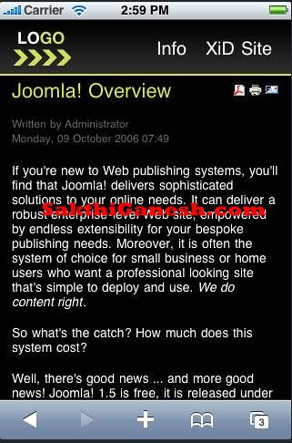 Joomla Mobile Dark Theme