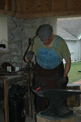 Working Blacksmith at Glidden Homestead!