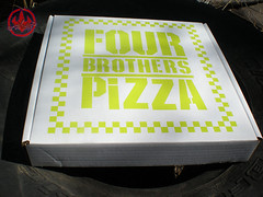 "Nickelodeon TMNT Fan Preview; ""FOUR BROTHERS PIZZA"" - Consolation Pizza Box ii (( 2011 ))"