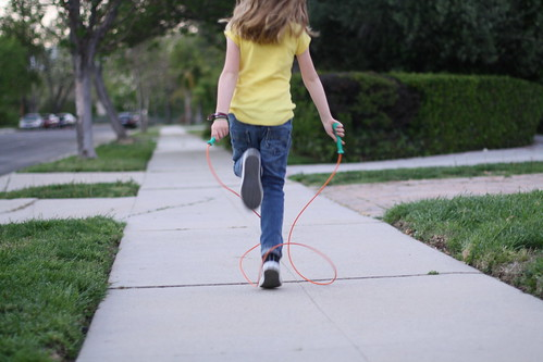 jump rope around the block