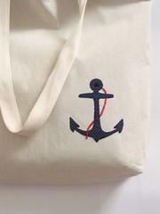 Tote bag Anchor (tati schmidt) Tags: feltro bolsa handbag nautico totebag ncora feminina algodo ecobag sacola azulmarinho tatischmidt