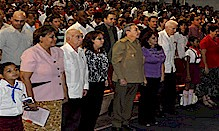 Cuban President Raul Castro presided over the concluding sessions of the Pioneer movement inside the country. Cuba has been maintaining a revolutionary position on all domestic and international questions since 1959. by Pan-African News Wire File Photos
