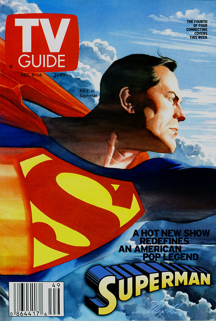 TV Guide Dec 2001 Smallvile - Alex Ross Superman painting