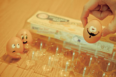 Cage Free? Think Again! (CurryRojo) Tags: food art contrast vintage nikon funny faces egg humor creative oldschool eggs carton aged clever lowcontrast d90 dailyshoot