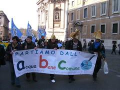 Rom 26.03.2011.: Menschen mit Wasserhanhmützen