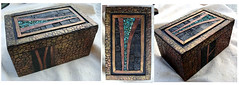 April 8 Completed Box (pati b) Tags: original mosaic turquoise ooak polymerclay cedar cigarbox polyclay