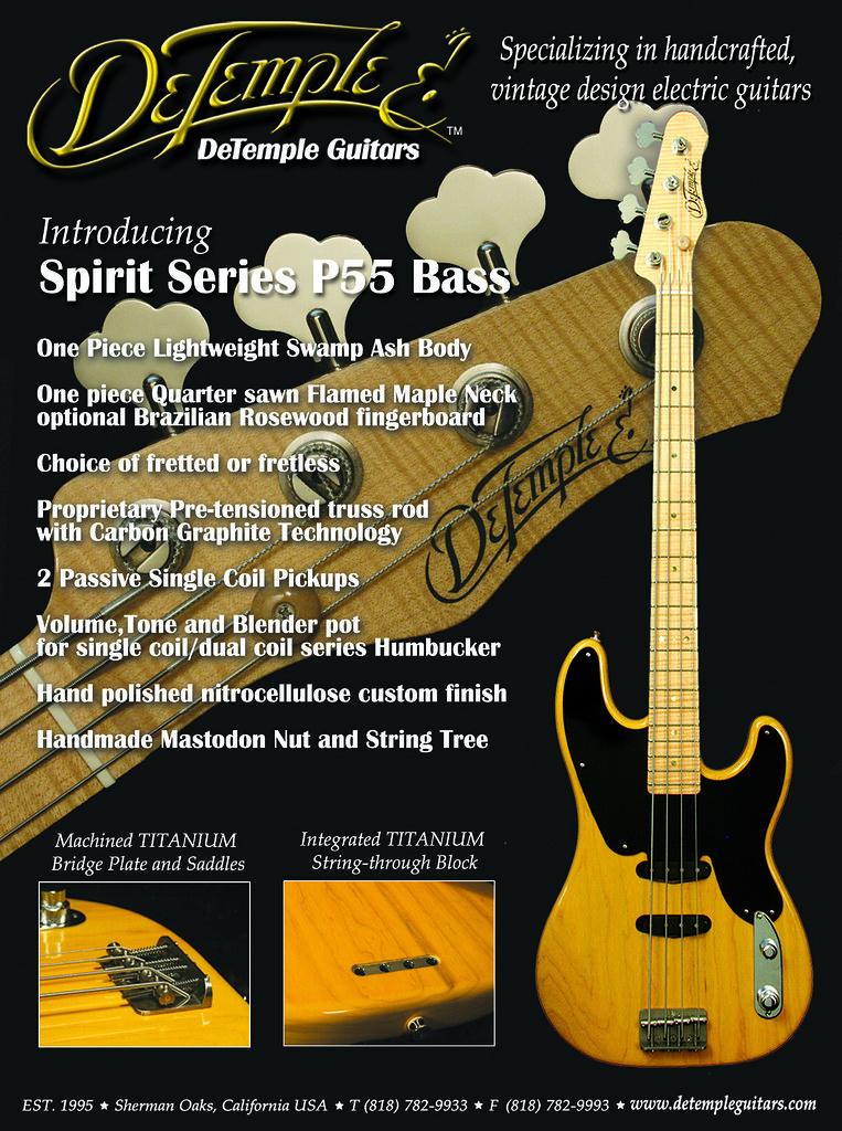 DeTemple P55 Spirit Series Bass