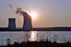 Le soleil de Cattenom (RGplayer01) Tags: sunset plant france soleil nikon power lac nuclear mm f18 50 lorraine centrale edf moselle electrique cattenom d3100