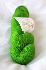 Wollmeise 100% - Wasabi (MisoCraftyKnits) Tags: green wool knitting yarn german wasabi wollmeise