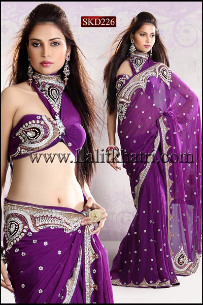 Priyanka Chopra Saree by LalitKhatriDesignstoWed
