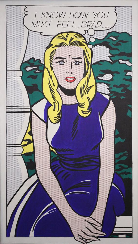 Roy Lichtenstein, I know how you must feel, Brad…, 1963
