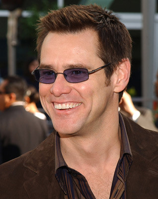 Jim Carrey fashion sunglasses in dark lenses