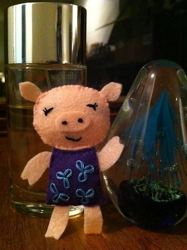 Purple piglet