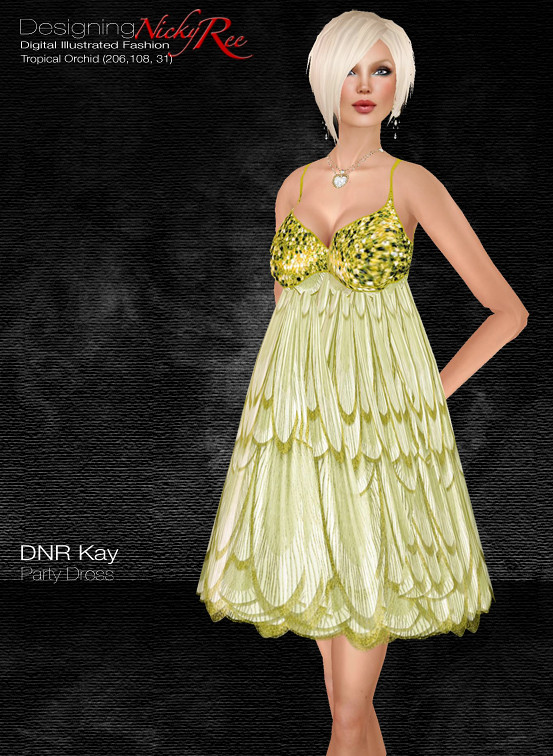 DNR Kay Party Dress V Poster Gold