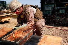 Marines construct bridge in Afghanistan (United States Marine Corps Official Page) Tags: ohio usmc military nj calif toledo colonia marines af henderson vallejo nev unitedstatesmarinecorps bravocompany unitedstatesmarines helmandprovince 8thengineersupportbattalion 2ndmarinelogisticsgroupforward marjah marinespictures marinesphotos bridgeplatoon