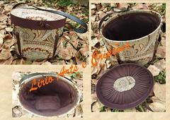 Frasqueira outono (Lirio Arts e Criaes) Tags: caixa curso tecido frasqueira cartonagem caixaforrada forraofrancesa