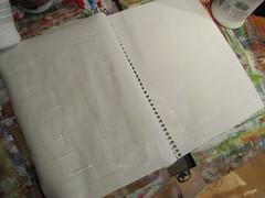 gessoed a spread in my art journal