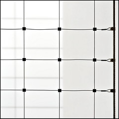 [] (Maerten Prins) Tags: shadow white net lines wall square grid steel denhaag gemeentehuis safetynet retestrak suicidepreventionnet