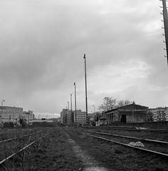 Bratislava- Trnavske myto (Adam_sen) Tags: blackandwhite 6 industrial tl slovakia pentacon bratislava pentacon6tl carlzeissjenabiometar2880