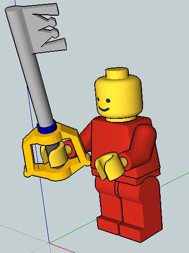 Custom minifig keyblade with fig