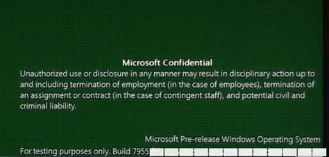 Microsoft Windows 8 Build 7955 leaked