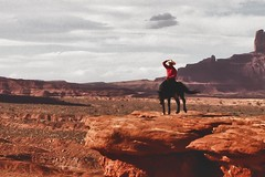 Hold On To Your Hat (Marvin Bredel) Tags: arizona nature landscape utah rocks desert indian nativeamerican navajo redrock monumentvalley fourcorners americanindian oldwest americansouthwest coloradoplateau nativeamerica marvinbredel