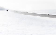 good things come in pairs (lpph0to) Tags: strand print sneeuw wandeling sintidesbald herhaling de20