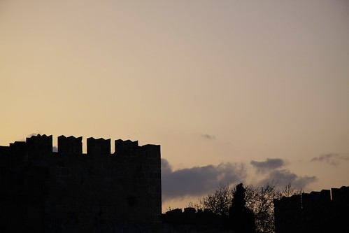 Sunset over Rhodes Old Town Walls