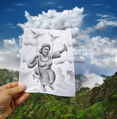 5 - Pencil Vs Camera for Art Official Concept (Ben Heine) Tags: africa above brazil portrait sky music woman inspiration tree bird art love portugal fog forest landscape photography sadness fly flora emotion drawing song saudade dove character femme mother voice mama poetic swing nostalgia exotic amour destiny micro singer tropical microphone vol diva arbre oiseau fort caboverde musique creole colombe afrique chanteur influence capeverde fume chanteuse mindelo balanoire morna capvert marazul voix exotism cesariaevora sodade grammyawards benheine cafatlantico missperfumado barefootdiva pencilvscamera nhasentimento artofficialconcept ladivaauxpiedsnus sovicentedilonge distinodibelita
