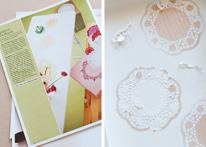 DIY Mishap - Paper Doily Tray