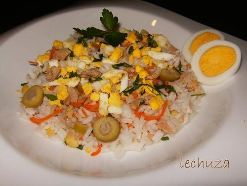 Ensalada de arroz-plato