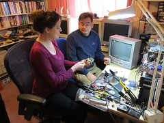 Ellie and I Build a Microcomputer (anachrocomputer) Tags: kit pcb microcontroller microcomputer fignition